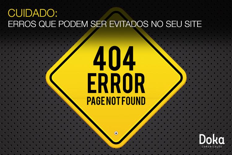 Cuidado: erros que podem ser evitados no seu site