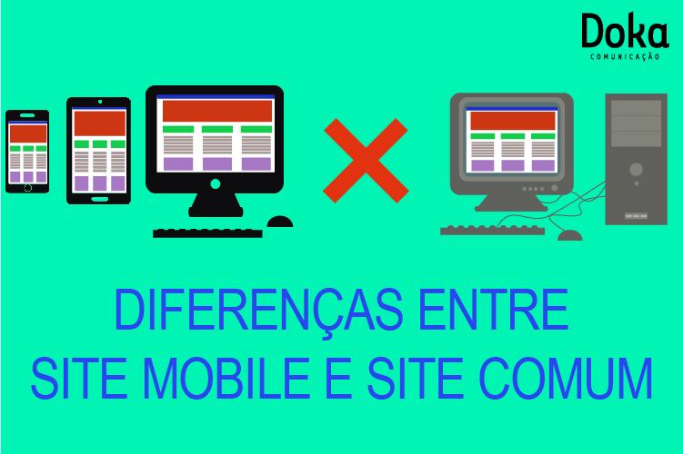 Diferenciais do site mobile feito pela Doka Comunicação